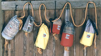 Photo of safety rope throw bags from The Summit